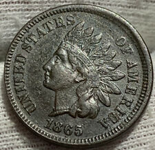 1865 Indian Head Cent Penny XF** FULL LIBERTY