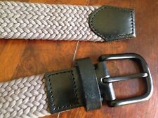 Country Road 💙 Black / Grey Leather / Cotton Belt Size S RRP $59.95