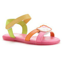 NIB NWT HELLO KITTY SUMMER SANDALS PINK Yellow velcro girl shoes sz 9 toddle $40