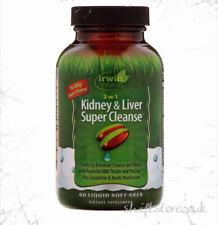 Irwin Naturals 2 en 1 de riñón y de hígado Super Cleanse ™ 60 cápsulas blandas | Reino Unido Stock