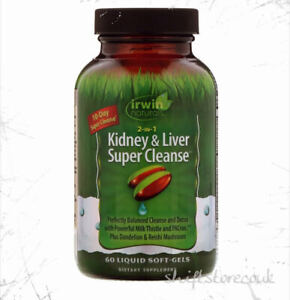 Irwin Naturals 2-In-1 Kidney & Liver Super Cleanse™ 60 softgels | UK Stock