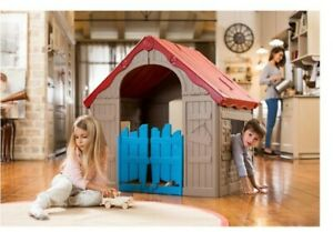 Keter Plastic Outdoor Indoor Wonderfold Cubby House Playhouse Fun -fold up!