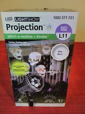 Lightshow Lights LED Projection Whirl A Motion + Halloween Light Strobe Skulls