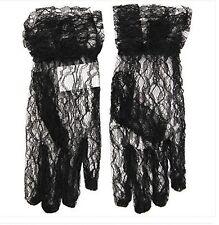 WIDMANN Guanti pizzo neri per costumi carnevale o halloween Accessori 4618N