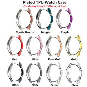 For Samsung Galaxy Watch 3 (41mm/45mm) TPU Smart Watch Case Cover Accessories