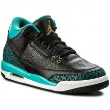 Nike AIR JORDAN 3 III RETRO Jacksonville JAGUARS Black Metallic GOLD TEAL sz 9.5