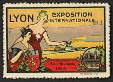 1914 Exposition Internationale ~ Lyon France Poster Stamp