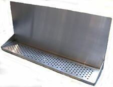 Draft Beer Tower Wall Mt Drip Tray 30 Long With Ss Grill Drain Dtwm30ss