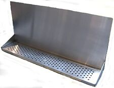 "Draft Beer Tower Wall Mt Drip Tray 30"" Long w/ S.S. Grill - drain # DTWM30SS"