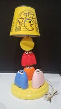 Vintage 1980's Pac-Man Ceramic Lamp AND SHADE Working NICE!