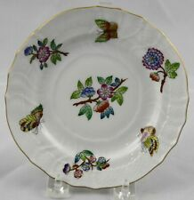 "Herend Queen Victoria Bread Plate 6-1/8"" No Border Multiple Available"