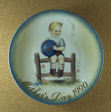 Mother's Day 1990 Mother'S Little Athlete Plate Sister Berta Hummel 19th Edition
