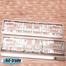 2 x TOP Auto Chrom Kennzeichenhalter Rahmen universal Set NEU