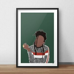 Little Simz INSPIRED WALL ART Print / Poster A4 A3 101 fm grey area lil