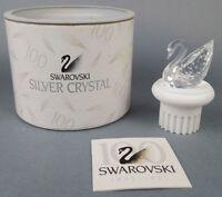 Signed by Artist Swarovski Crystal 100 Year Swan Pedestal 7633 NR100 000 Lot#J39
