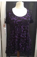 YOURS PLUS SIZE PURPLE EDGY TIE BACK TOP 26/28
