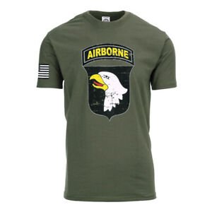 101st Airborne Paratrooper D-Day T-Shirt Vintage US Army Airforce Pilots Marine