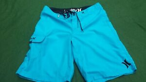 """Hurley Mens Boardshorts Board shorts Size 32"""" Blue-Surf,Surfing,SUP"""