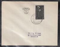 SAAR SAARLAND of beautiful Cover FDC 1953 - Benedictine Abbey Tholey