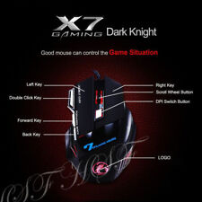 LED LASER USB WIRED OPTICAL GAME GAMING MOUSE PC 7 BUTTONS ADJUSTABLE 3200 DPI*