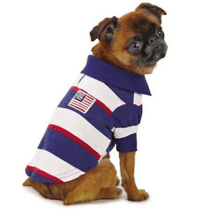 Zack Zoey Patriotic Pooch Dog Polo Shirt SPF40 Pet Sun Protection Red White Blue