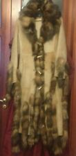 Luxury Italian Shearling Fur Coat Authentic Roberta Scarpa RRP $3,500 size 10