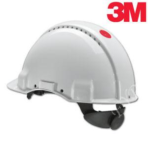 3M™ Peltor™ G3000 Schutzhelm Uvicator Arbeitshelm Bauhelm Arbeitschutzhelm Weiß
