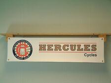 Hercules Cycles Banner Vintage Bicycle Workshop Retro logo style Advertising