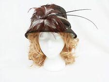 "Ladies Women's Hat Brown ""Jendi' Was $79.95, Wedding Races Formal -  PL627"