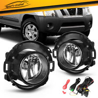 for 2005-2014 Nissan Xterra 2010-2017 Frontier Clear Bumper Fog Light Lamps PAIR