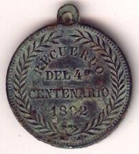 """Cincin19""""Recuerdo DEL 4º CENTENARIO 1892,Cristobal Colon 32mm/27mm"""