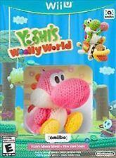 WII U YOSHI'S WOOLLY WORLD AMIIBO PINK YARN YOSHI FIGURE BRAND NEW VIDEO GAME