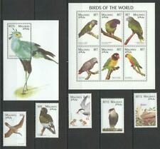 [MAL] MALDIVES 1997 BIRDS OF THE WORLD. SET OF 5 STAMPS + SHEETS OF 6 + S/S .