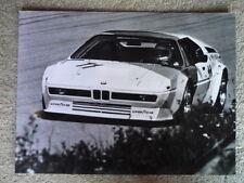 BMW M1 RACE PRESS PHOTO  Brochure  jm
