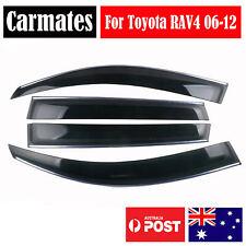 Weather Shield Visor For Toyota RAV4 06-12 4 Doors double sided tape clips AU
