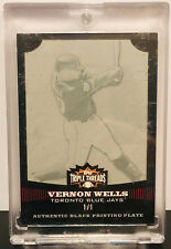 Vernon Wells 2006 Topps Triple Threads 1/1 1 of 1 Printing Plate