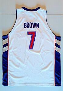 DEE BROWN Reebok TORONTO RAPTORS AUTHENTIC White Jersey 48 NBA Celtics