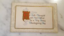 All Kind Thoughts & Best Wishes For Thanksgiving Day Postcard Unposted