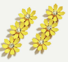 New$59.50 With J.crew Bag! Vivid Yellow J.Crew Daisy Drop Earrings! Sold Out!
