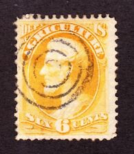 US O4 6c Agriculture Department Used w/ 4 Ring Target Fancy Cancel