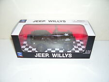 USA Willys Green Jeep Die Cast Car Scale 1:32 Mint Box New Ray