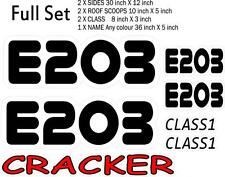 RACE NUMBERS STICKERS DECALS  FULL SET PRINTED & LAMINATED waterproof decals