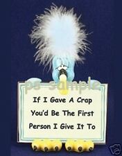 CRAP BIRD - Humorous Fridge Magnet - free ship on more