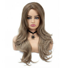 Women's Cosplay Wig Long Curly Wavy Hair Full Wigs Party Costume Wig Light Brown