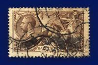1918 SG413a 2s6d Dull Sepia-Brown N65(2) London 22 DE 33 Fair Used Cat £100 csxv