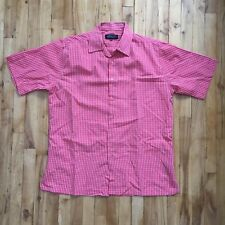 Adolfo Red XL Short Sleeve Shirt