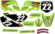 Kawasaki KLX110 2002-2009 Complete Graphics Kit - Green Arrow - by FastTimes