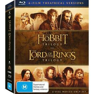 Middle-Earth Collection : HOBBIT & LORD OF THE RINGS Trilogy : NEW Blu-Ray
