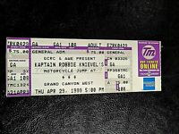 1999 ORIG KAPTAIN ROBBIE KNIEVEL GRAND CANYON MOTORCYCLE JUMP TICKET MINT $25
