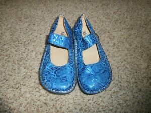 Alegria Paloma PAL-134 Blue Mary Jane Shoes Size 36 US 6-6.5